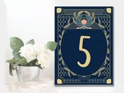 Wedding  Table Numbers Art Deco -  Metal Wall Sign